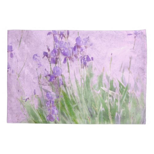 Purple Irish Watercolor Pillow Case