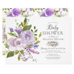 Purple Lavender Floral BABY Shower Invitations