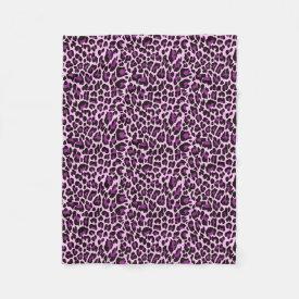 Purple Leopard Print Fleece Blanket