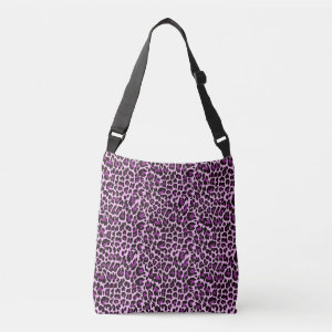 Purple Leopard Skin Spots Tote Bag