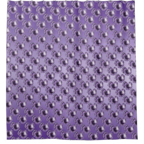Purple Marble Floral Shower Curtain