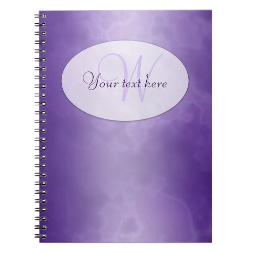 Purple Marble Personalized Notebook