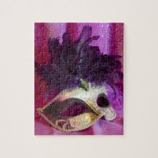 Purple Masquerade Mask puzzle