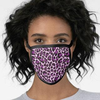 Purple Pink Leopard Print Skin Stylish Face Mask