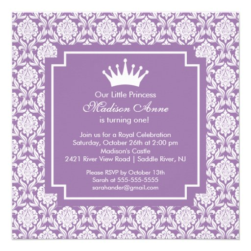 personalized princess castle invitations custominvitations4u com