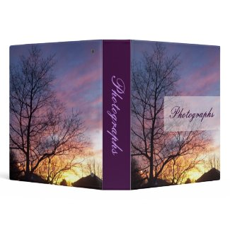 Purple Sunset Photo Binder binder