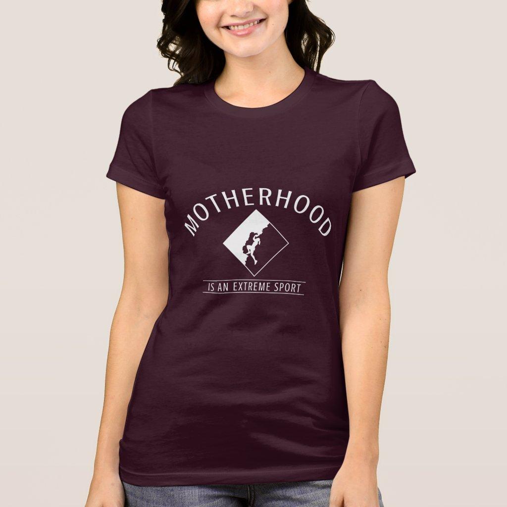 Purple T-shirt: Motherhood is an Extreme Sport T-Shirt