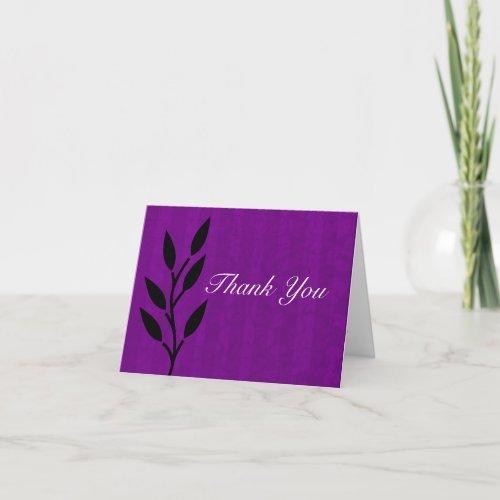 Purple Vintage Background Thank You Wedding Cards