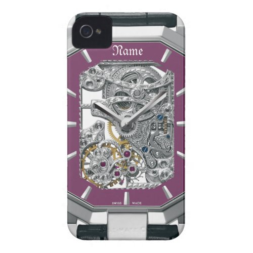 Purple Watch iphone4 Barely-there Case casematecase