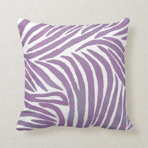 Purple Zebra Print Pillow