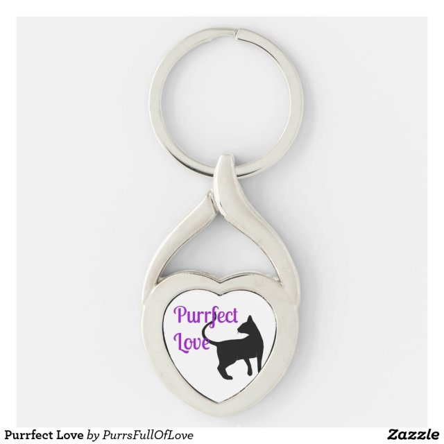 Purrfect Love Keychain