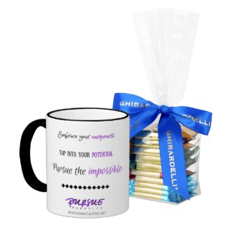 Pursue Magazine Mug - Inspirational Reminder