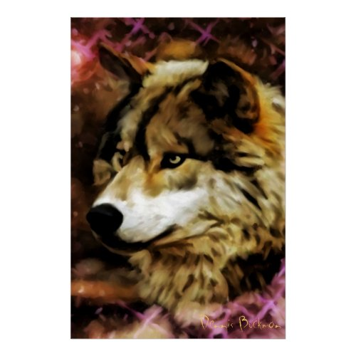 Qualities of the Wolf print