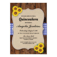 Quinceanera Birthday Party Sunflower BBQ Invite