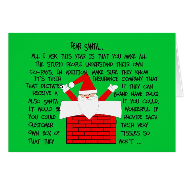 Quirky And Funny Pharmacist Christmas Cards Zazzle