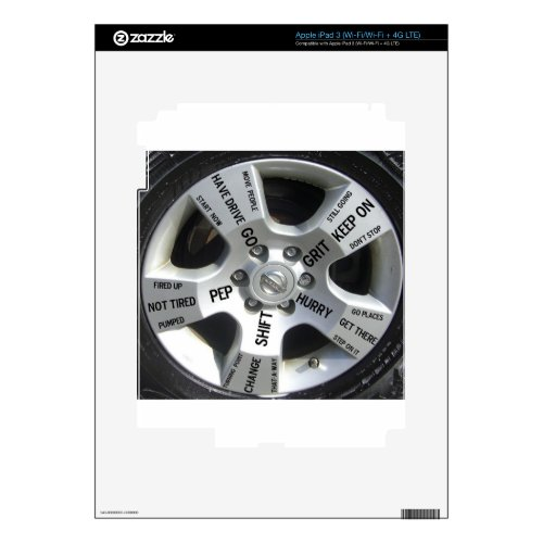 Quote Products for Car Lovers Decal for iPad