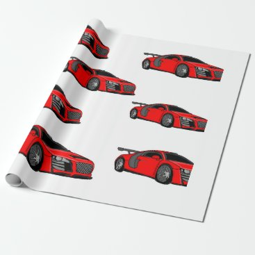 """Race car"" custom wrapping paper"
