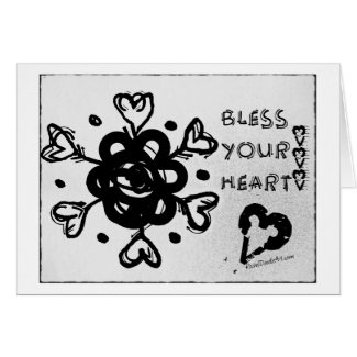 Rachel Doodle Art - Bless Your Heart Greeting Card