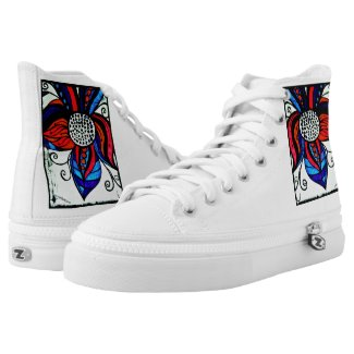 Rachel Doodle Art - Colorful Flower Printed Shoes