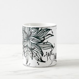 Rachel Doodle Art - Just Chill Classic White Coffee Mug