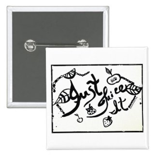 Rachel Doodle Art - Just Juice It 2 Inch Square Button