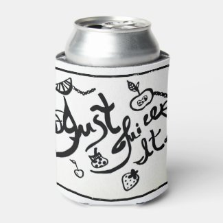 Rachel Doodle Art - Just Juice It Can Cooler