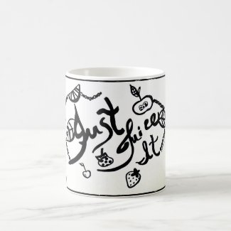 Rachel Doodle Art - Just Juice It Classic White Coffee Mug