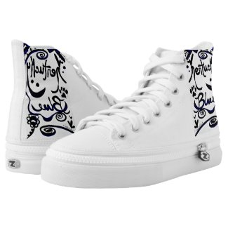 Rachel Doodle Art - Kentucky Blue Printed Shoes