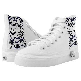 Rachel Doodle Art - Kentucky Blue Printed Shoes