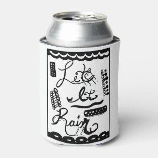 Rachel Doodle Art - Let It Rain Can Cooler