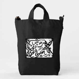Rachel Doodle Art - Livin My Life Like It's Golden Duck Canvas Bag