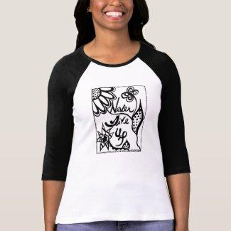 Rachel Doodle Art - Never Give Up T Shirt