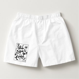 Rachel Doodle Art - Old-Skool 90's Hip-Hop Boxers