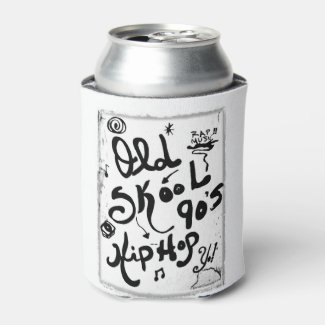 Rachel Doodle Art - Old-Skool 90's Hip-Hop Can Cooler