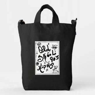 Rachel Doodle Art - Old-Skool 90's Hip-Hop Duck Canvas Bag