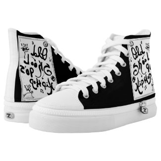 Rachel Doodle Art - Old-Skool 90's Hip-Hop Printed Shoes