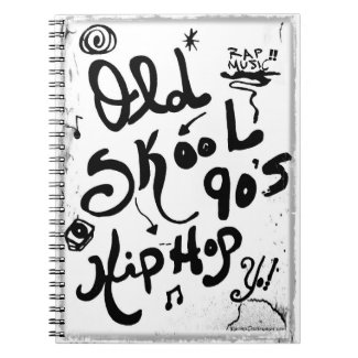 Rachel Doodle Art - Old-Skool 90's Hip-Hop Spiral Notebook