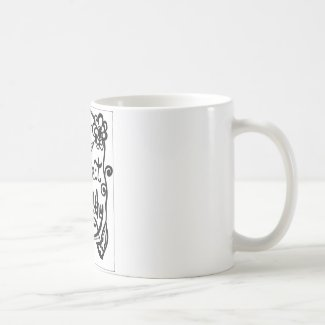 Rachel Doodle Art - Project Healthy Classic White Coffee Mug