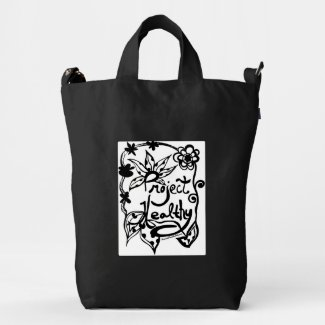 Rachel Doodle Art - Project Healthy Duck Canvas Bag