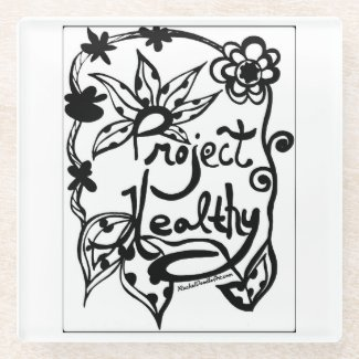 Rachel Doodle Art - Project Healthy Glass Coaster