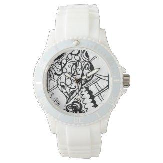 Rachel Doodle Art - Relax Wrist Watches