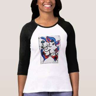 Rachel Doodle Art - Right On Track Tshirt