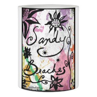 Rachel Doodle Art - Sandy Beaches Flameless Candle