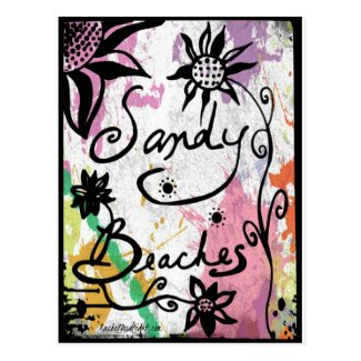 Rachel Doodle Art - Sandy Beaches Postcard