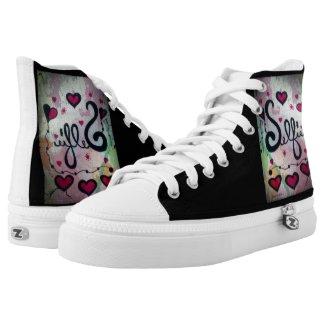 Rachel Doodle Art - Selfie Printed Shoes