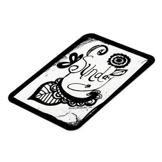 Rachel Doodle Art - Sunday Rectangular Photo Magnet