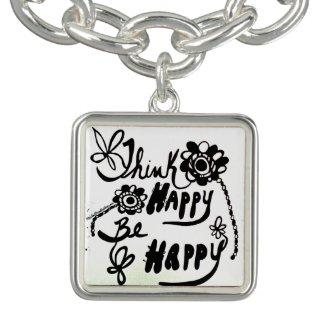 Rachel Doodle Art - Think Happy Be Happy Bracelets