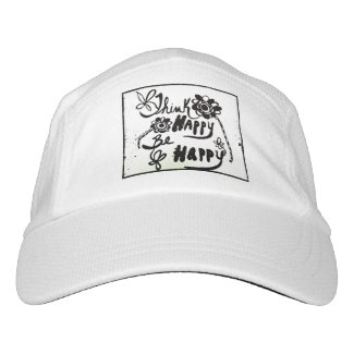 Rachel Doodle Art - Think Happy Be Happy Headsweats Hat