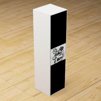 Rachel Doodle Art - Think Happy Be Happy Wine Gift Box