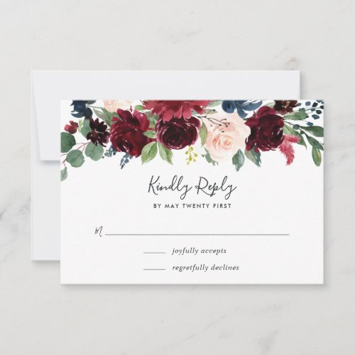 Radiant Bloom RSVP Card